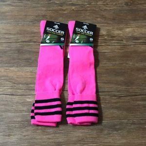 Adidas pink soccer socks 2 pair